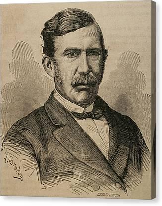 David Livingstone 1813-1873. Engraving Canvas Print by Bridgeman Images