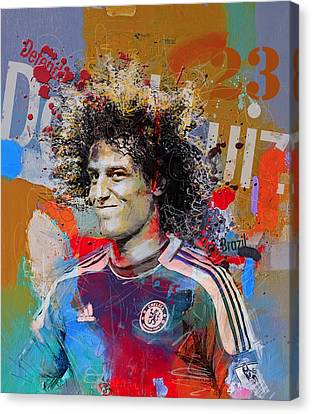 David Luiz Canvas Print by Corporate Art Task Force