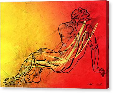 David Canvas Print by Mark Ashkenazi