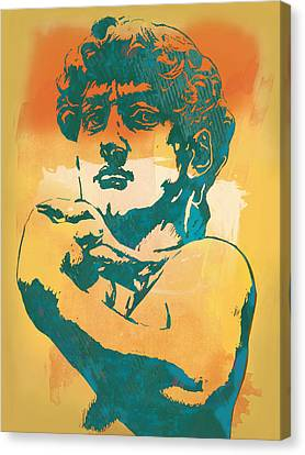 David - Michelangelo - Stylised Modern Pop Art Poster Canvas Print by Kim Wang