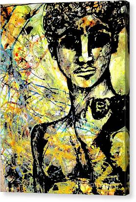 David Of Goliath Canvas Print by Amy Sorrell
