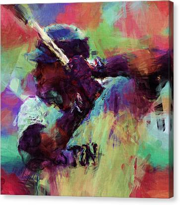 David Ortiz Abstract Canvas Print