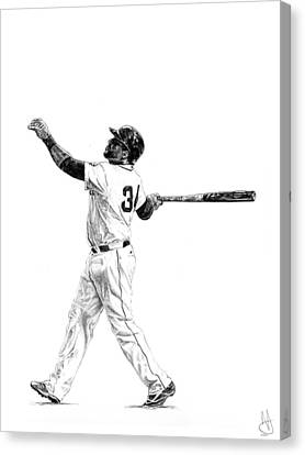 Boston Red Sox Canvas Print - David Ortiz by Joshua Sooter
