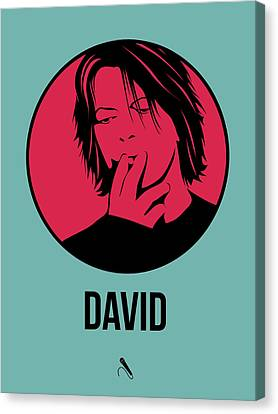 David Canvas Print - David Poster 3 by Naxart Studio