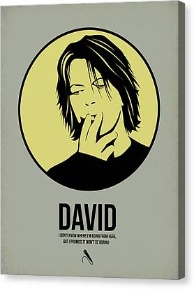 Famous Musician Canvas Print - David Poster 4 by Naxart Studio