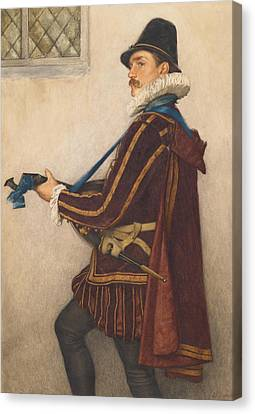 Lute Canvas Print - David Rizzio by Sir James Dromgole Linton
