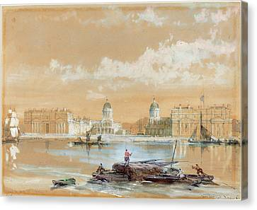 David Roberts Scottish, 1796 - 1864, The Naval College Canvas Print by Quint Lox
