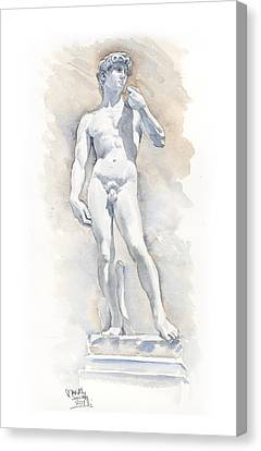 David Sculpture By Michelangelo Canvas Print by Maddy Swan