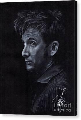 David Tennant 3 Canvas Print by Rosalinda Markle