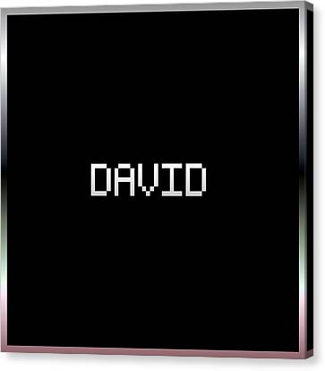 David.1.2 Canvas Print by Gareth Lewis