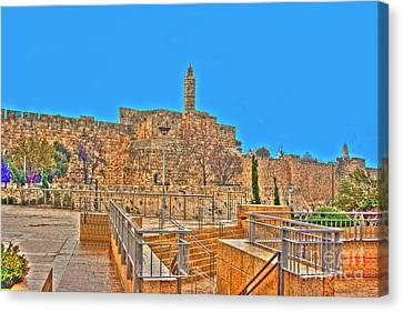 Canvas Print featuring the photograph Davids Citadel - Israel by Doc Braham