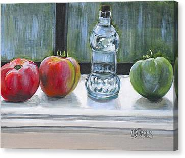 David's Tomatos Canvas Print by Melissa Torres