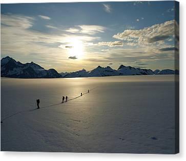 Davidson Glacier - Chilkat Range Canvas Print by Ryan Fell