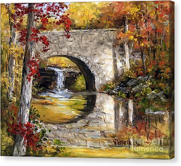 Davies Bridge November Canvas Print