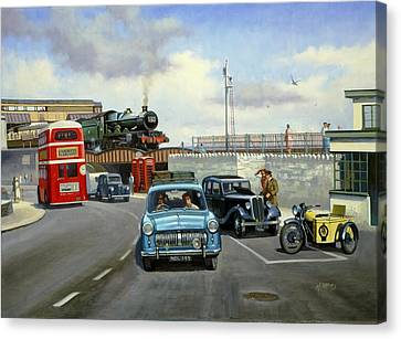 Dawlish Summer. Canvas Print by Mike  Jeffries