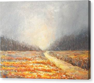 Canvas Print featuring the painting Dawn 1 by Jane  See