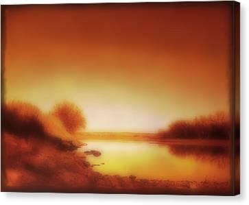Dawn Arkansas River Canvas Print by Ann Powell