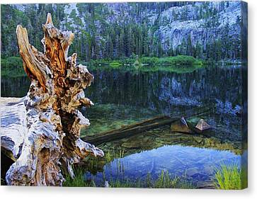 Canvas Print featuring the photograph Dawn Arrives At Eagle Lake by Sean Sarsfield
