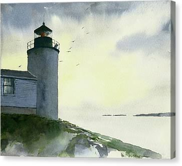 Dawn At Bass Harbor Lighthouse Canvas Print
