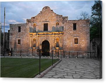 Dawn At The Alamo Canvas Print by Jemmy Archer