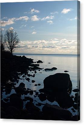 Canvas Print featuring the photograph Dawn At The Cove by James Peterson