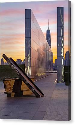 Dawn At The Empty Sky Memorial Canvas Print by Susan Candelario