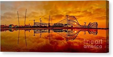 Dawn At Wildwood Pier Canvas Print by Nick Zelinsky