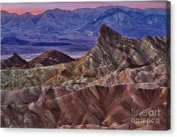 Canvas Print featuring the photograph Dawn At Zabriskie Point by Jerry Fornarotto