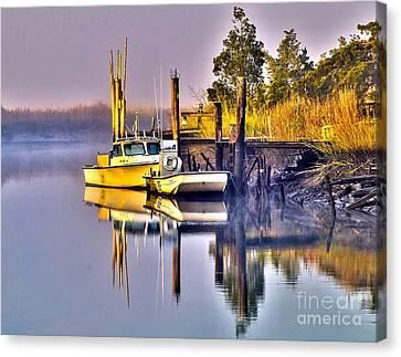Dawn Boat Canvas Print