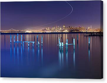 Dawn Colors - Sausalito Canvas Print by David Yu