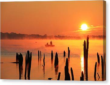 Dawn Fishing Canvas Print