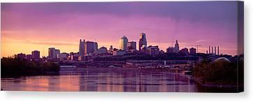 Dawn Kansas City Mo Canvas Print by Panoramic Images