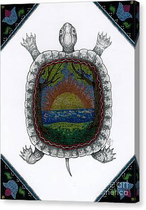 Dawn Land Canvas Print by Christine Matha