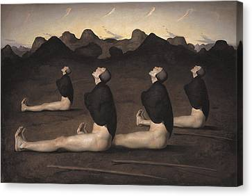 Dawn Canvas Print by Odd Nerdrum