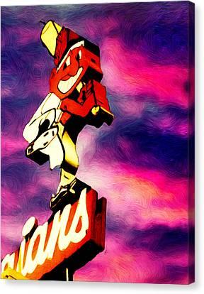 Cleveland Indians Canvas Print - Dawn Of A New Season by Kenneth Krolikowski