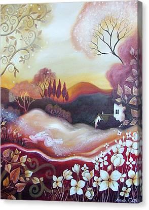 Dawn Of Autumn Canvas Print by Amanda Clark