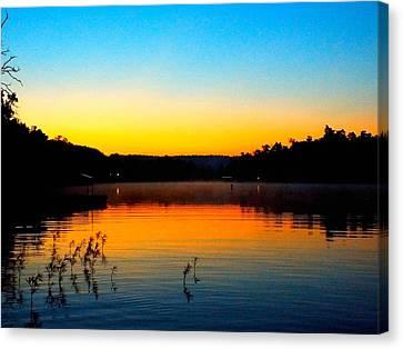 Dawn On Crown Cove Canvas Print by Cindy Croal