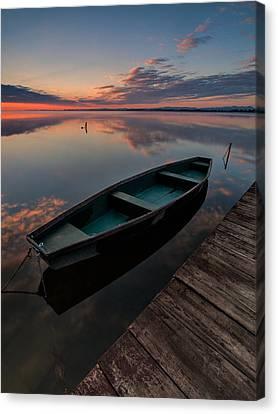Dawn On Lake Canvas Print