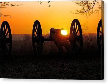 Dawn On The Battlefield Canvas Print