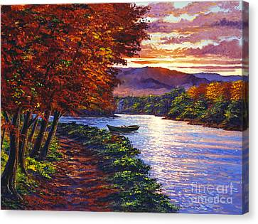 Dawn On The River Canvas Print