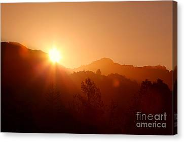 Dawn Over Calistoga Canvas Print by Posterity Productions