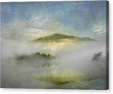 Dawn Over Lake Grasmere Canvas Print by Adrian Campfield