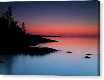 Dawn Over The North Shore Of Lake Canvas Print by Lucas Payne