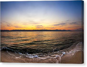 Dawn Over The Red Sea Canvas Print by Mark E Tisdale