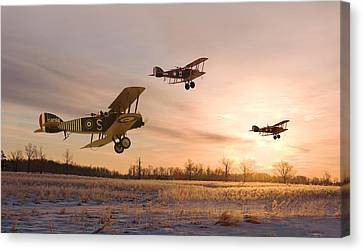 Ww1 Canvas Print - Dawn Patrol by Pat Speirs