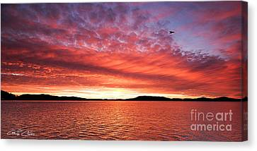 Dawn Sky Flame  Canvas Print by Geoff Childs
