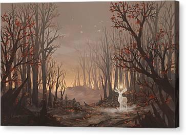 Europe Digital Art Canvas Print - Dawn Spirit by Cassiopeia Art