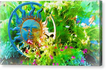 Dawn Sun Across The Garden Canvas Print by Douglas MooreZart