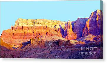 Dawn - Vermillion Cliff And Cathedral Canyon Canvas Print by Douglas Taylor