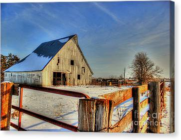 Dawns Barn Canvas Print by Thomas Danilovich